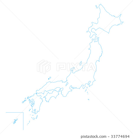 map of japan, blank map, an outline map - Stock Illustration ...