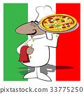 pizza chef cartoon 33775250
