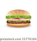 burger, vector, bread 33776164