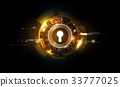 Glow keyhole abstract futuristic, business concept 33777025