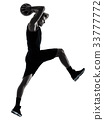 basketball player man isolated silhouette shadow 33777772