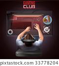 Gamer Top View Illustration 33778204