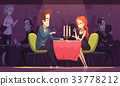 Young Couple Drinking Coffee In Restaurant 33778212