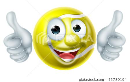 Tennis Ball Man Cartoon Character 33780194