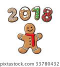 gingerbread, cookie, vector 33780432