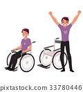輪椅 男性 男人 33780446