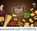 Mixed Pasta Background 33780552