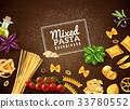 Mixed Pasta Background 33780552