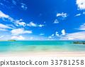 """""""沖繩縣""""美麗的翠綠色海 33781258"""