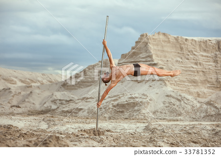 Man Athlete acrobat. 33781352