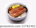 Unagi don in bowl Japanese style 33782462