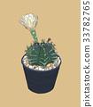 indoor plants in pots sketch vector. 33782765