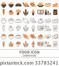 Food icon set 33783241