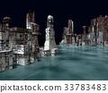 Armageddon in New York 3d rendering 33783483
