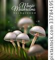 Magic Mushrooms Background 33784195