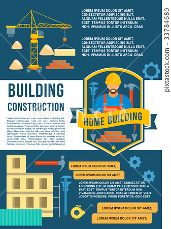 House construction and building vector poster 33784680
