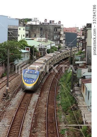 台灣新北市火車鐵軌 33784786
