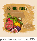 fruit exotic tropical 33784958