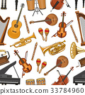 Vector musical instruments seamless pattern 33784960