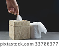 Close-up image hand pull the toilet papers roll 33786377
