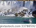 Photo of amazing Niagara waterfall and a ship 33786592