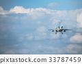 Air Self-Defense Force training aircraft T-4 gliding 33787459