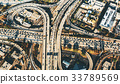 Aerial view of a massive highway intersection in 33789569