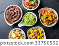 Traditional famous mexican sauces chocolate chili 33790532