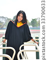 Asian cute women portrait graduation. 33790633