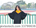 Asian cute women portrait graduation. 33790636