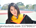Asian cute women portrait graduation. 33790637