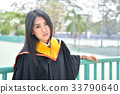Asian cute women portrait graduation. 33790640