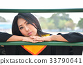 Asian cute women portrait graduation. 33790641