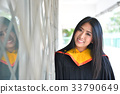 Asian cute women portrait graduation. 33790649