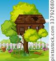 scene, tree, house 33792680