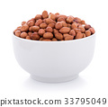peanuts in bowl isolated on the white background 33795049