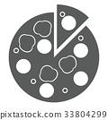 pizza, pizzas, icon 33804299