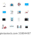 Household Appliances Icons. Set of Electronic Icon 33804497
