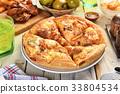 Korean kimchi pork pizza 33804534