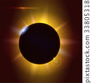 Solar eclipse, astronomical phenomenon - full sun 33805318