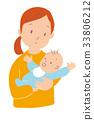 엄마와 아기 33806212