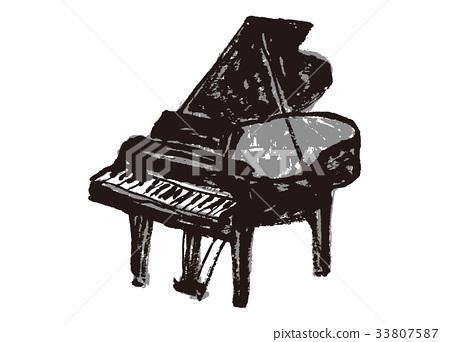 Piano watercolor 33807587