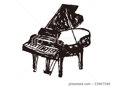 鋼琴水彩畫 33807588
