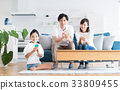 若い家族(スマホ) 33809455