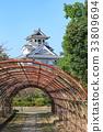 nagahama castle, castle, castles 33809694