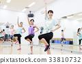 有氧運動健身健美操健身房婦女行使 33810732