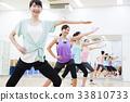 有氧運動健身健美操健身房婦女行使 33810733