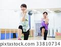 有氧運動健身健美操健身房婦女行使 33810734
