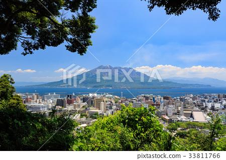 Shiroyama Observatory的Sakurajima-View- 33811766