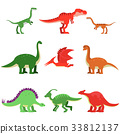 dinosaur, vector, cartoon 33812137